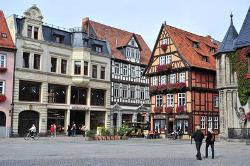 Blick auf die Ferienwohnungen vom Marktplatz in Quedlinburg